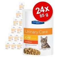Hill's Prescription Diet 24 x 85 g en sobres para gatos - Pack Ahorro - Problemas renales k/d (salmón)