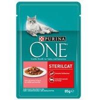 Purina ONE Gatos esterilizados - Con salmón y zanahoria (48 x 85 g) - Pack Ahorro