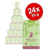 zooplus Bio comida ecológica para gatos - Pack Ahorro - Ganso ecológico con calabaza