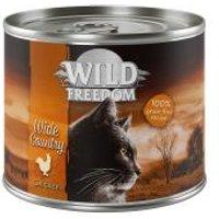 Wild Freedom Adult 6 x 200 g en latas - Wide Country - Pollo puro