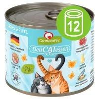 GranataPet DeliCatessen 12 x 200 g en latas - Pack Ahorro - Atún y pato