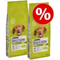 Pack ahorro: Purina Dog Chow 2 x 14 kg - Complet/Classic con cordero
