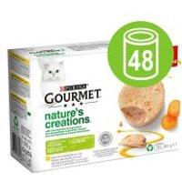 Purina Gourmet Nature's Creation Mousse 48 x 85 g - Megapack - Salmón y judías verdes
