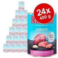 Pack Ahorro: Rocco Junior 24 x 400 g - Pavo con corazón de ternera y arroz
