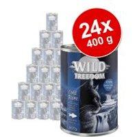 Wild Freedom Adult 24 x 400 g en latas - Pack Ahorro - Cold River - Carbonero y pollo
