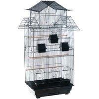 Vogelkäfig Amilo - schwarz: L 54 x B 46 x H 101 cm