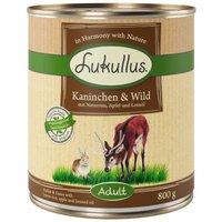 Lukullus Naturkost Adult 6 x 800 g - Kaninchen & Wild