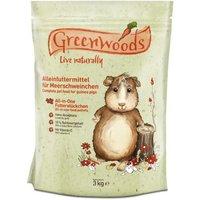 2 + 1 kg gratis! Greenwoods Nagerfutter, 3 kg - Meerschweinchenfutter 3 kg