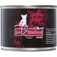 Sparpaket catz finefood Purrrr 12 x 200 g - No. 103 Huhn