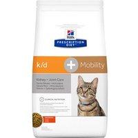 Hill's Prescription Diet k/d + Mobility  Kidney + Joint Care Katzenfutter mit Huhn - Sparpaket: 2 x 5 kg