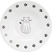 Trixie Keramikteller Katze für kurznasige Rassen - 200 ml, Ø 15 cm