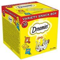 12 x 60 g Dreamies Mixbox (Huhn, Käse, Lachs) - 12 x 60 g