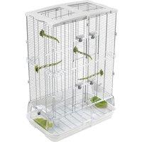 Hagen Vision Bird Cage for Medium Birds (M02) - White: 61 x 38 x 87.5 cm (L x W x H)