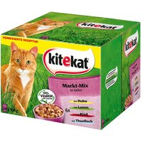 Kitekat Variety Pouches 24 x 100g - Hunters Delight in Gravy