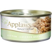 Applaws 6 x 70 g (chaton) - lot mixte (sardine, poulet, thon)