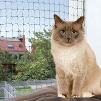 Trixie Bite Resistant Cat Net - Olive - 4 x 3 m