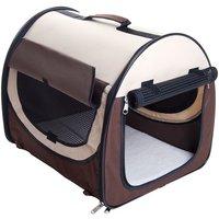 Easy Go Folding Transport Box - Brown / Beige - Size L: 77 x 57 x 63 cm (L x W x H)