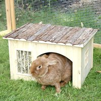 Nature Plus Small Pet House with Hay Rack - 54 x 41 x 30 cm (L x W x H)