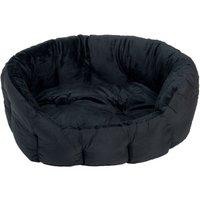 Cosy Panther Pet Bed - Black - 80 x 60 x 24 cm (L x W x H)