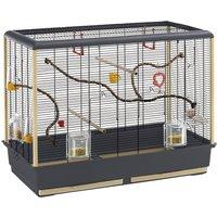 Ferplast Piano 6 Bird Cage - Grey/Black: 87 x 46.5 x 70 cm (L x W x H)