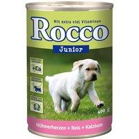 Rocco Junior 6 x 400g - Chicken Hearts, Rice & Calcium