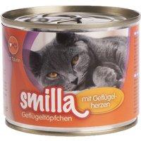 6x200g volaille, agneau Smilla - Nourriture pour Chat