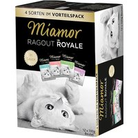 Miamor Ragout Royale Mixed Trial Pack 12 x 100g - Turkey, Salmon & Veal
