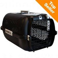Catite White Tiger Voyageur Cage de transport pour chat noire, L57 x l38 x H31cm