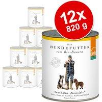 Defu Organic Sensitive Saver Pack 12 x 820g - Sensitive Beef