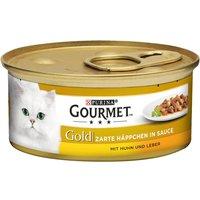 Gourmet Gold Les Noisettes 12 x 85 g - saumon, poulet