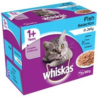 Whiskas 1+ Pouches Mega Pack 96 x 100g* - Poultry Selection in Jelly