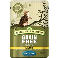 James Wellbeloved Kitten Pouches - Lamb - 12 x 85g