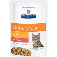Hills Prescription Diet Feline - c/d Multicare Salmon - 12 x 85g pouches