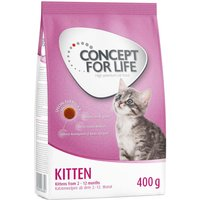Kitten Starter Kit: 400g Concept for Life Dry Food + 12 x 85g Wet Food - Concept for Life Kitten Dry & Wet in Gravy