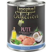 zooplus Selection Junior Turkey - 6 x 400g