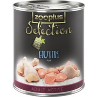 zooplus Selection Adult Active Pure Chicken - 6 x 400g