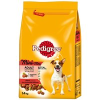 Pedigree Adult Mini Beef & Vegetables - Economy Pack: 2 x 1.4kg