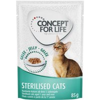 Concept for Life Sterilised Cats in Jelly - 24 x 85g