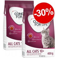 Croquettes Concept for Life All Cats 10+ 2 x 400 g : 30 % de remise ! - All Cats 10+
