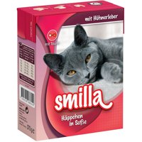 Smilla Chunks Tetra Pak Wet Cat Food Saver Pack 24 x 370g/380g - with Beef in Sauce (24 x 370g)