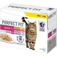 Perfect Fit Adult 1+ Pouches Meat & Fish in Sauce - 12 x 85g