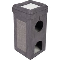 Softn Scratchy Collapsible Cat Tower - Charcoal / White