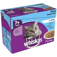 Whiskas 7+ Senior Pouches in Jelly - Saver Pack: 48 x 100g Poultry Selection