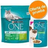 Purina ONE pienso y comida húmeda - Pack de prueba mixto - Pollo y cereales + Pollo y judías verdes