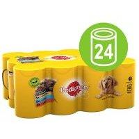 Multipack Pedigree Selection Adult 24 x 400 g  comida húmeda para perros - Selección de carnes en gelatina (24 x 385 g) (pollo, cordero y vacuno)