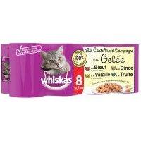 Whiskas La Carte 8 x 390 g en latas - Mar y tierra en gelatina
