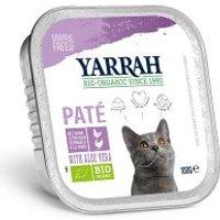 Yarrah Bio 48 x 100 g en tarrinas para gatos - Pack Ahorro - Salmón con algas marinas ecológicas - Paté