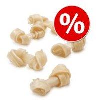 Pack ahorro: Barkoo huesos con nudos de piel de vacuno - 24 x 18 cm