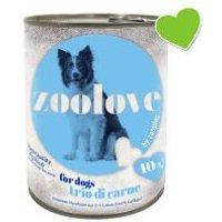 zoolove latas con tres tipos de carne - 6 x 800 g