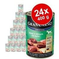 Pack Ahorro: Animonda GranCarno Original Adult 24 x 400 g - Vacuno y salmón con espinacas